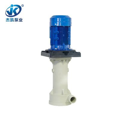 FRPP槽内立式泵 JKT-40SK-35VF-4硝酸立式泵 化工专用化工立式泵