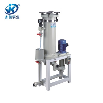FRPP化学镀过滤机 JKC-2006耐腐蚀过滤机 环保行业专用过滤机