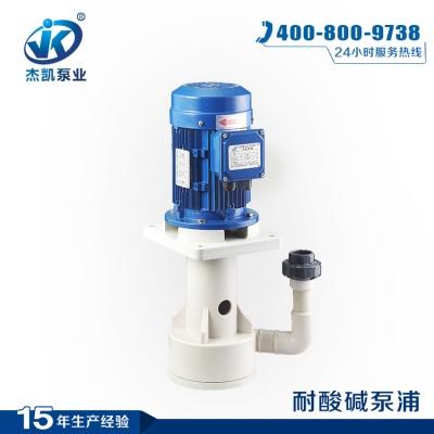 FRPP槽内泵 JKH-F-32SK-25VF-4耐酸碱泵 化工专用化工立式泵