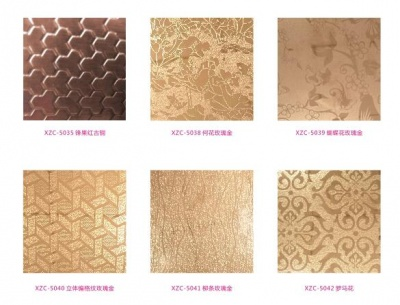 Embossed color series plate