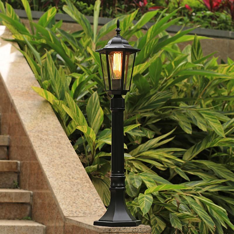 室外草坪灯美式庭院防水单头路灯花园户落地小区高杆别墅景观欧式