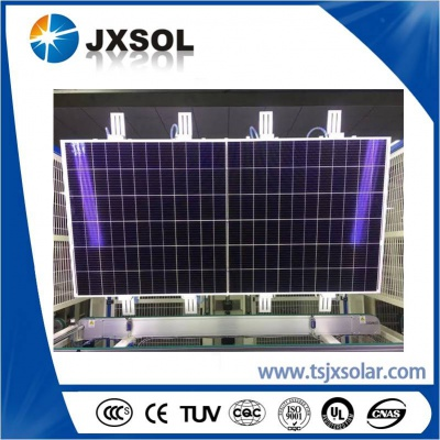 9BB 144cells half cell solar panels with 158.75mm cells