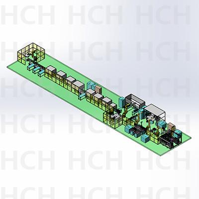 方形动力电池模组产线