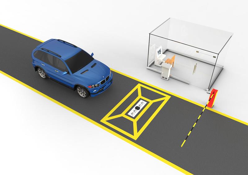 ZA-UVSS-II 固定式車底掃描,車底檢查系統