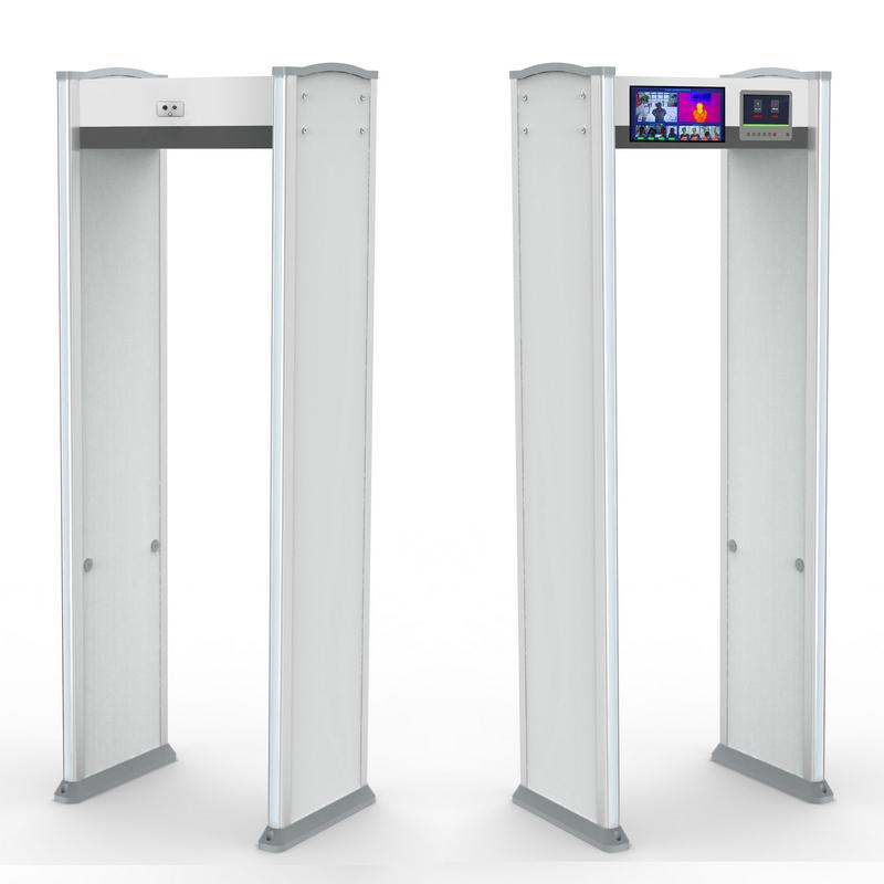 (熱成像測溫-雙屏)金屬探測安檢門ZA3000