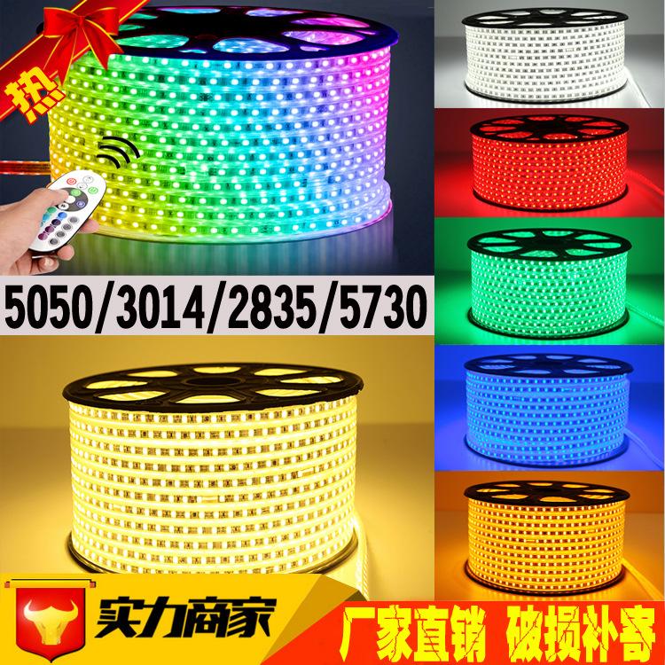 led燈帶5050七彩柔性燈帶 3014單排2835雙排燈帶 5050led燈帶廠家