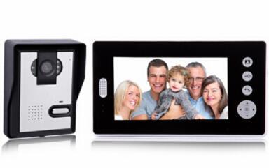 酷丰(KUFENG) 7寸智能对讲可视门铃无线家用别墅楼宇拍照监控KW7001 一拖一(1个室外机1个室内机)