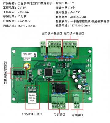32位单门双向TCP工业级门禁控制板