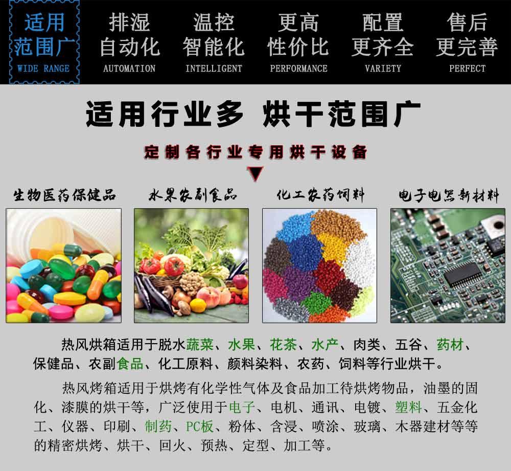 2019年秋霞鲁丝片瓜皮熱風循環烘箱適用范圍廣