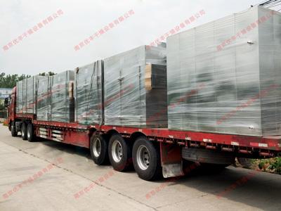 南京优丰上海客户热风循环烘箱发货现场