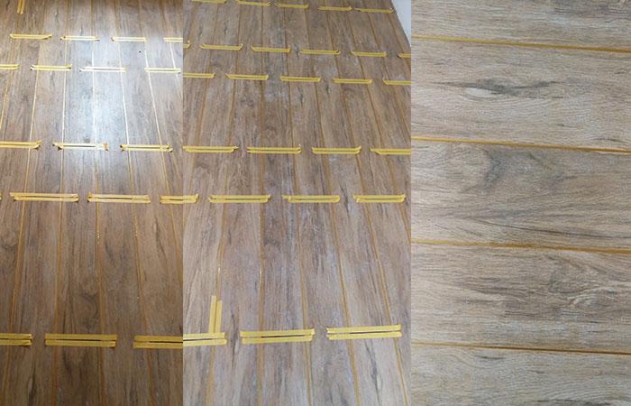 木纹砖陶瓷泥施工