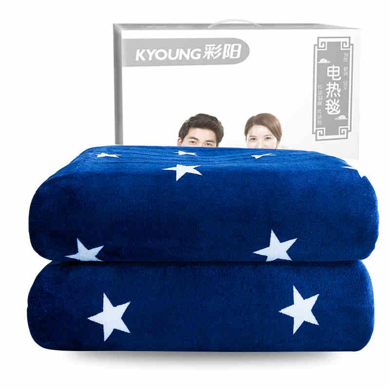 彩阳电热毯双人双控调温1.8安全辐射无防水三单家用加大厚电褥子