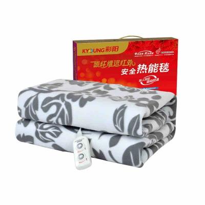 彩阳碳纤维电热毯双人可调温安全家用加热电褥子加厚防水