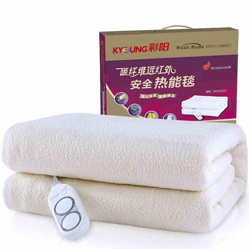 彩阳碳纤维电热毯双人安全可调温恒温电褥子加厚防水不上火