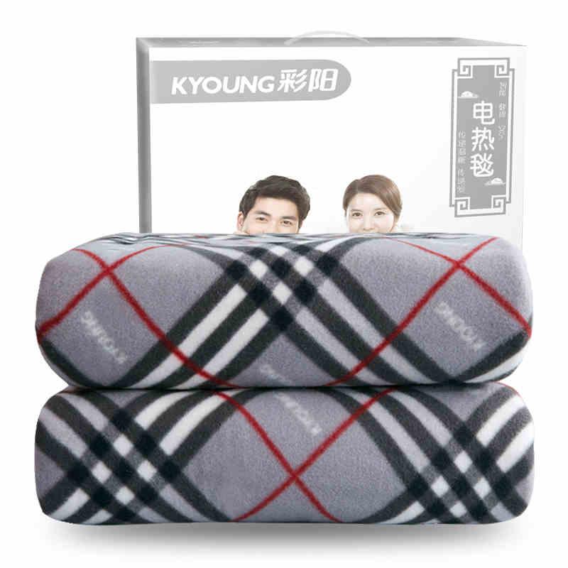 彩阳电热毯碳纤维双人安全家用单人防水暖和双控调温电褥子