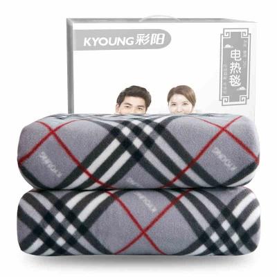 彩陽電熱毯碳纖維雙人安全家用單人防水暖和雙控調溫電褥子