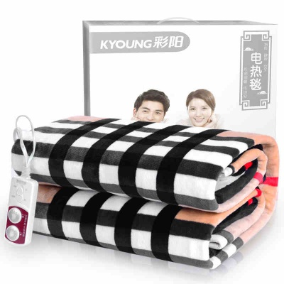 彩阳电热毯单人学生宿舍女双人双控加热调温防水安全电褥子