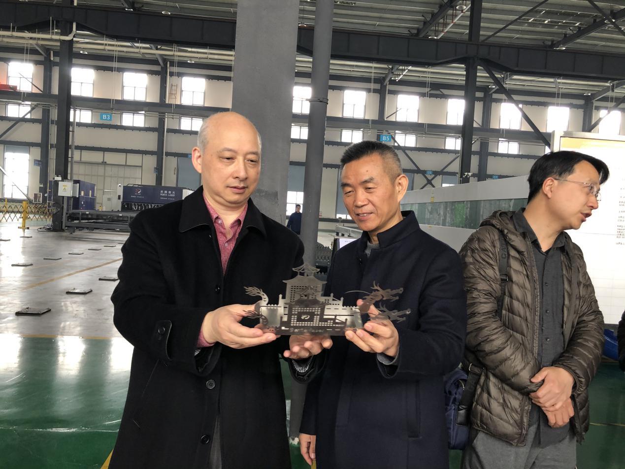 浙江省人民政府外事辦公室余亦平二級巡視員到訪奔騰激光