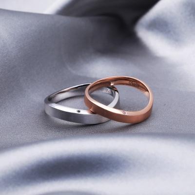 【B&W黑白钻】爱无止境-周百福黑白钻结婚对戒
