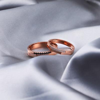 【B&W黑白钻】黑白变奏曲-周百福黑白钻结婚对戒