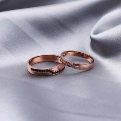 【B&W黑白钻】Z大调-周百福黑白钻结婚对戒