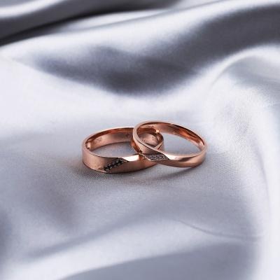 【B&W黑白钻】爱的主旋律-周百福黑白钻结婚对戒