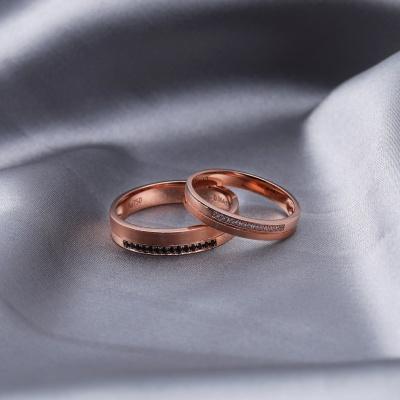 【B&W黑白钻】一诺一声 -周百福黑白钻结婚对戒