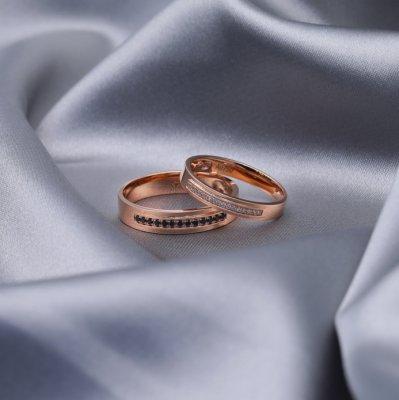 【B&W黑白钻】梦幻进行曲-周百福黑白钻结婚对戒