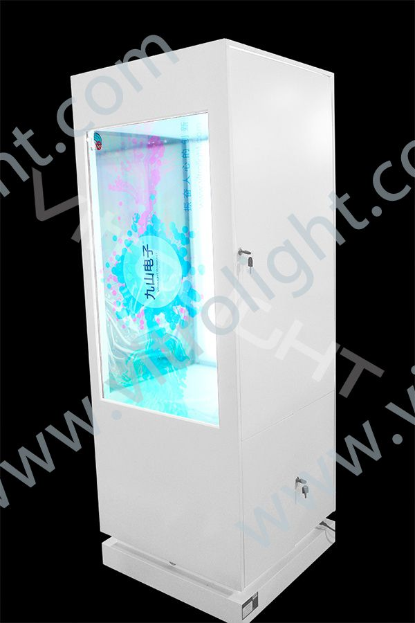 46-inch double-sided transparent LCD display cabinet