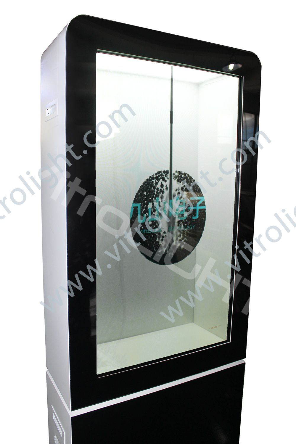 43-inch transparent LCD screen advertising all-in-one machine