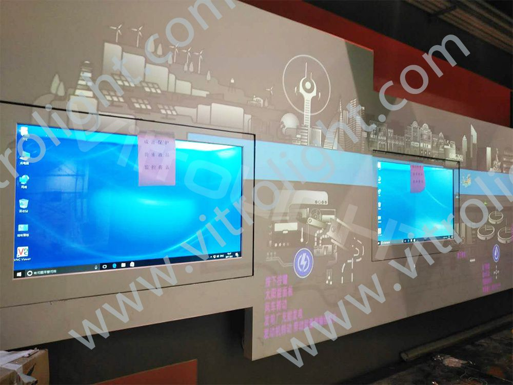 55-inch, 65-inch transparent LCD screen-an exhibition hall in Guangzhou
