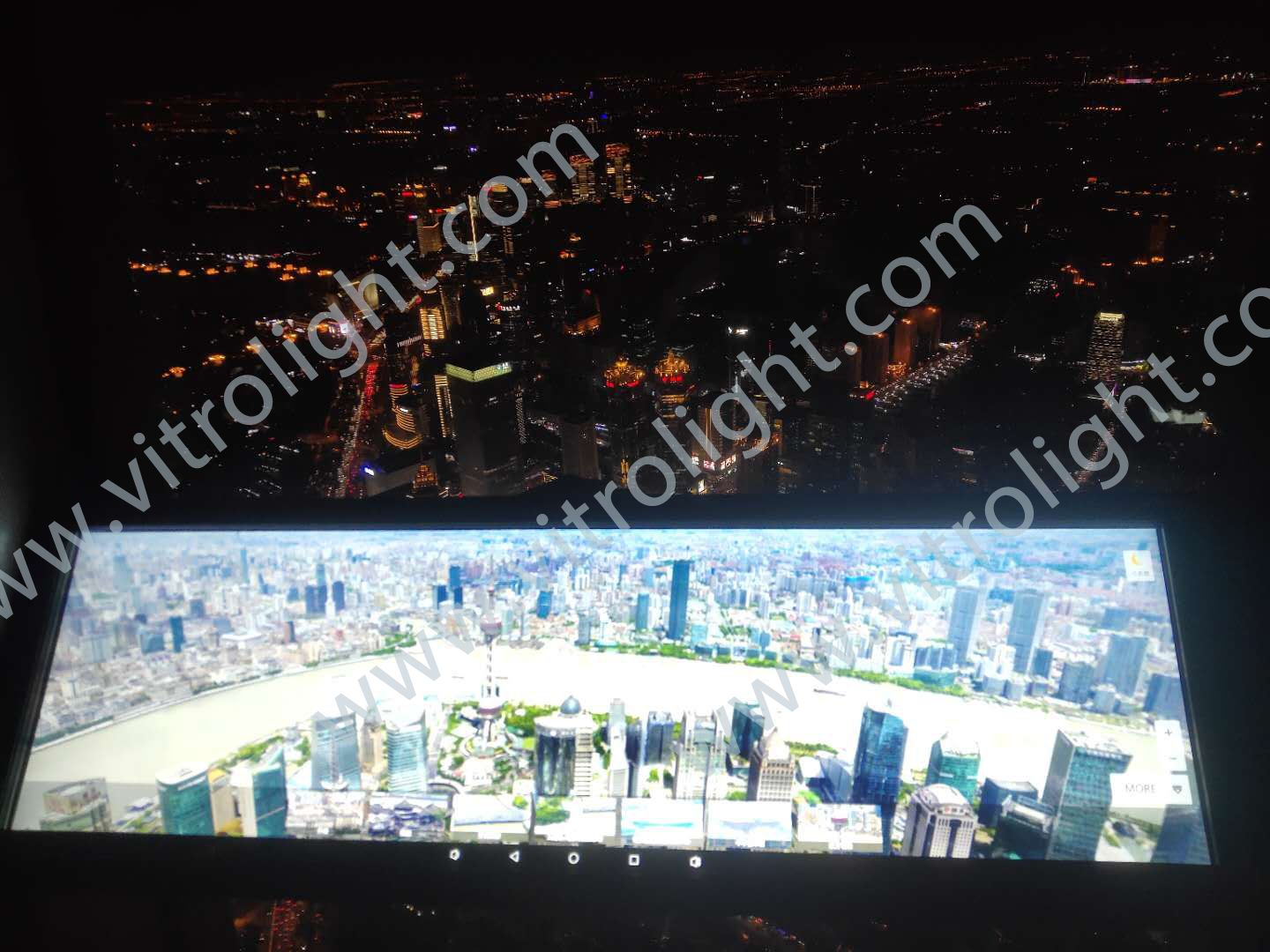 38-inch strip screen in Shanghai Global Center