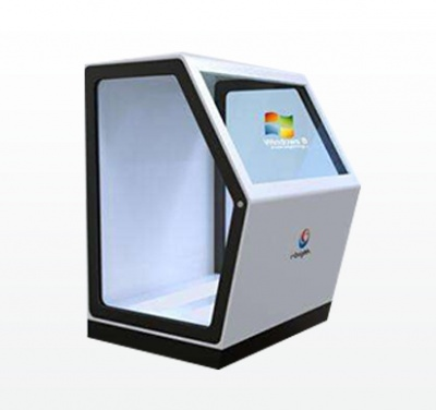 55 inch Transparent white all-in-one machine(with touch function)