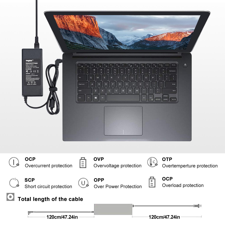 SUNYDEAL Netzteil für HP Laptop Output: 19V 4,74A 90W Ladekabel für HP Compaq Presario CQ50 Pavilion