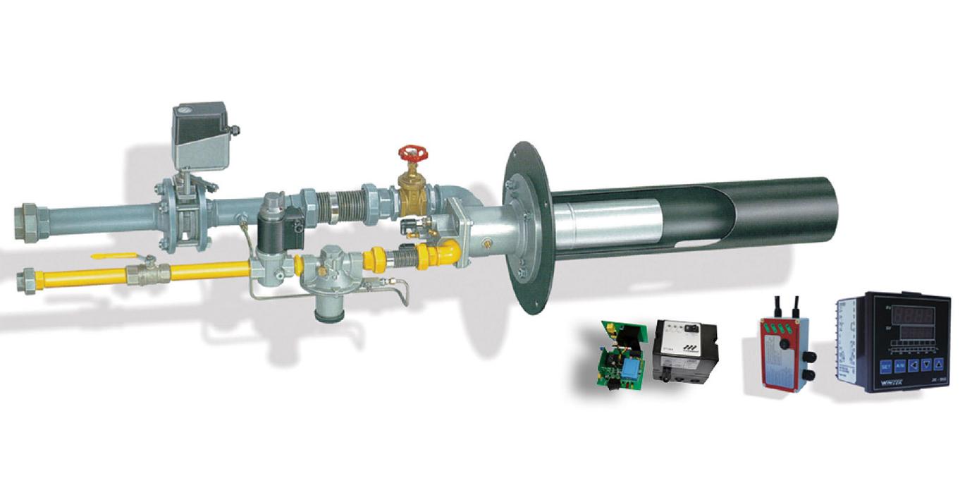 连续式燃烧控制系统 烧嘴管外导焰管