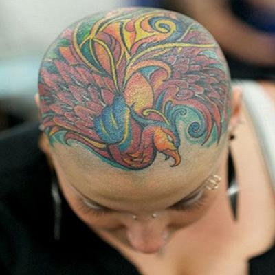 头部纹身图案大全2