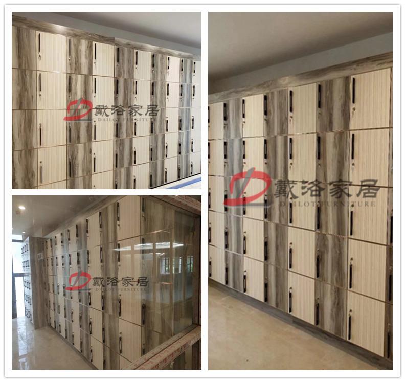 會所木質帶鎖儲物柜保管柜平開門儲物箱-佛山戴洛更衣柜儲物柜定制廠家