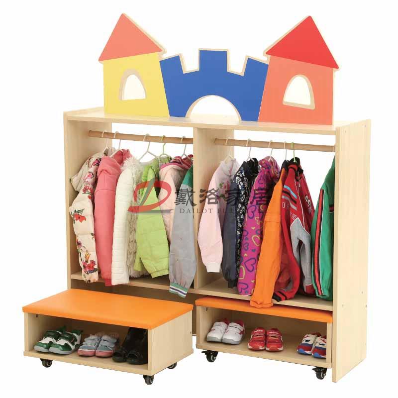幼兒早教特色主題衣帽柜幼兒園更衣柜-佛山戴洛幼兒園兒童家具定制