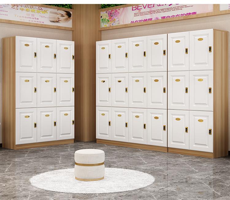 新中式风格会所定制木质更衣柜-佛山戴洛木质更衣柜定制