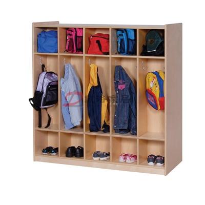 幼儿园衣帽柜儿童书包柜木质鞋服储存柜