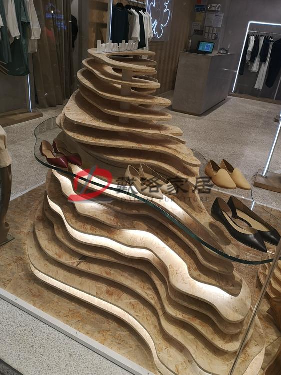 多层波浪立体造型展示架