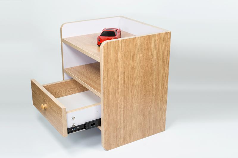现代简约床头柜床边柜带单层抽屉矮柜(特价包邮)