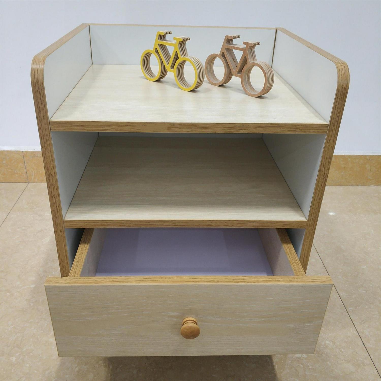 現代簡約床頭柜床邊柜帶單層抽屜矮柜(特價包郵)