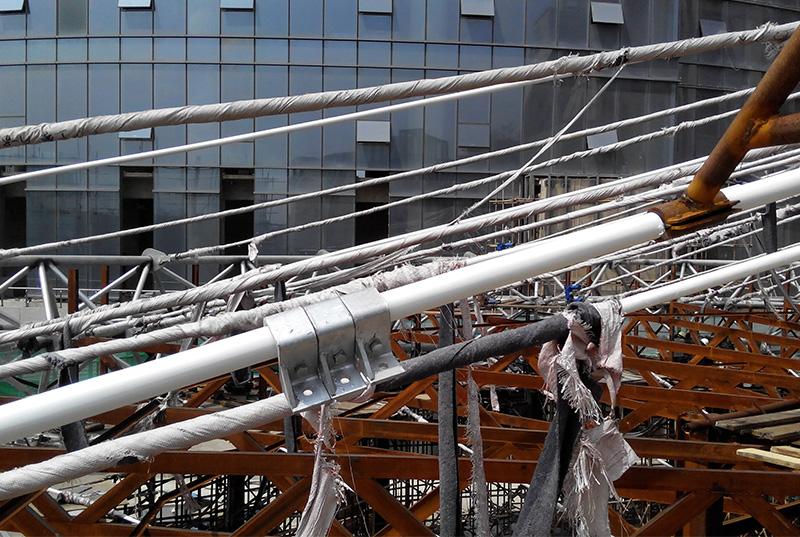 昆明同德廣場膜索結構張拉索力控制監測