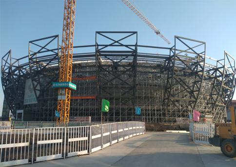 钢结构体育馆贯通索索力测试