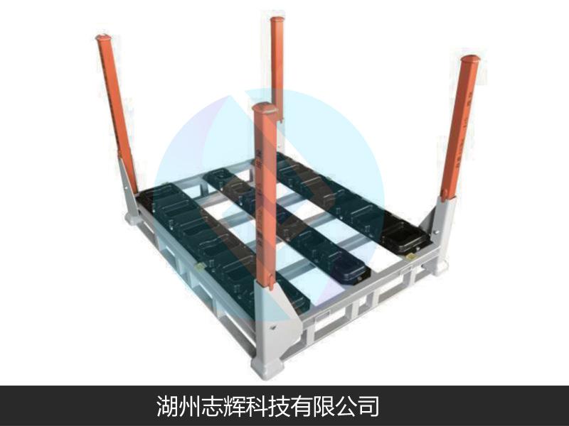 齒輪箱鐵塑結合周轉料架
