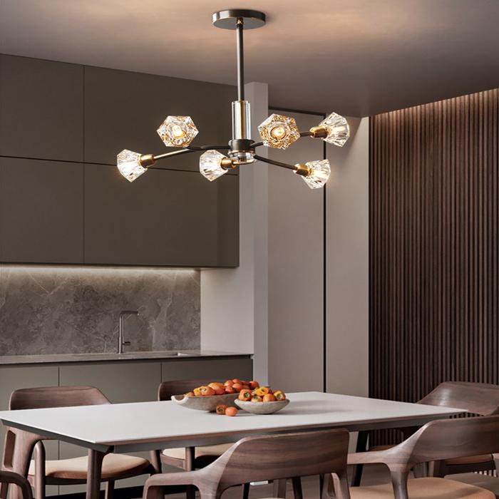 現代全銅水晶吊燈大氣客餐廳燈A337