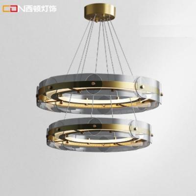 奢簡美式客廳吊燈雙環