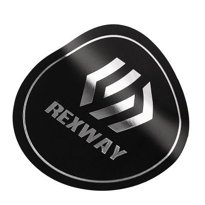 Round matt silver stickers