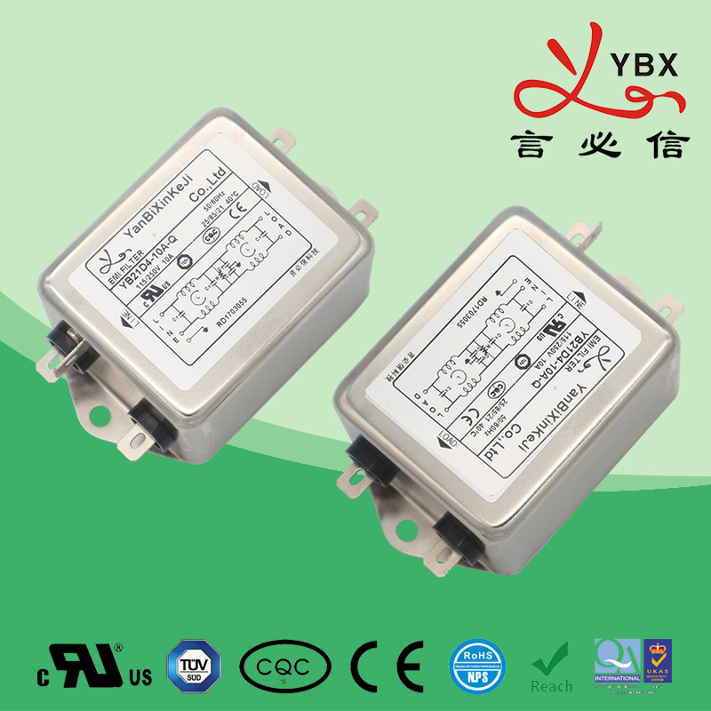 1-10A高性能三级滤波单相电源滤波器